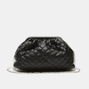 sac clutch à effet matelassé bata, Noir, 961-6342 - 13