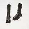 bottines en vrai cuir à fermeture éclair bata, Noir, 594-6426 - 26