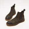 bottines chelsea à piqué brogue bata, Brun, 893-4807 - 26