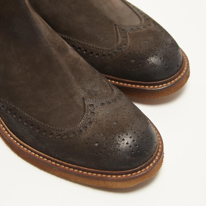 bottines chelsea à piqué brogue bata, Brun, 893-4807 - 15