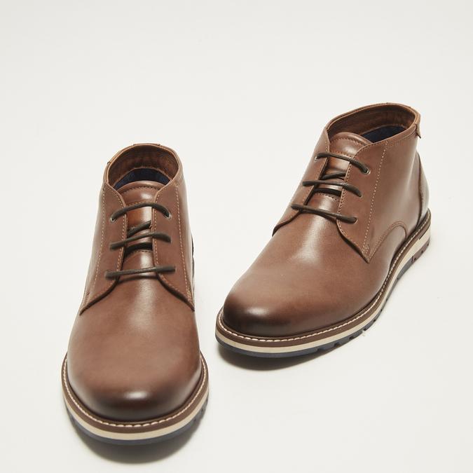 chaussures en cuir homme bata, Brun, 824-4121 - 26