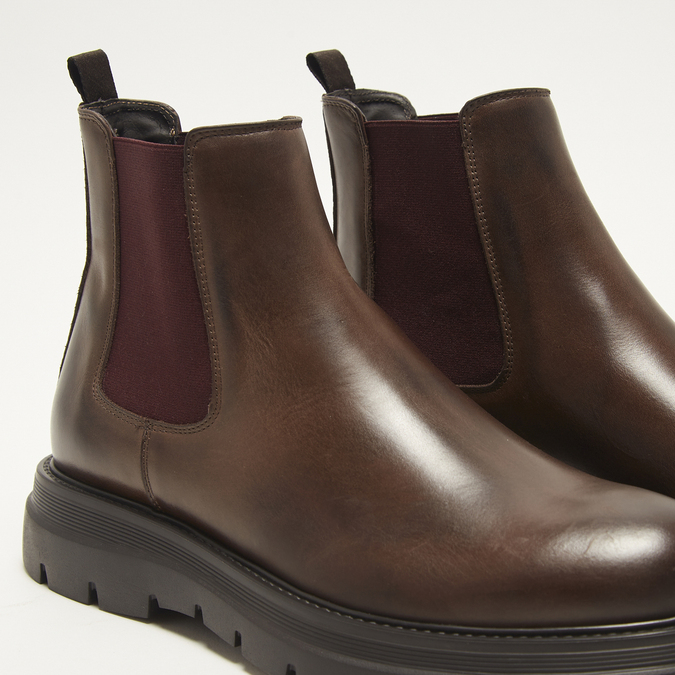 bottines en cuir à semelle robuste bata, Brun, 894-4559 - 15