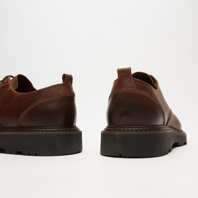 chaussures basses brogue en cuir à semelle track bata, Brun, 824-4226 - 19