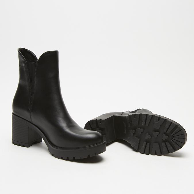 bottines à talons larges bata, Noir, 791-6163 - 17