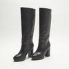 bottes en-dessous du genou à talons larges bata, Noir, 791-6257 - 26
