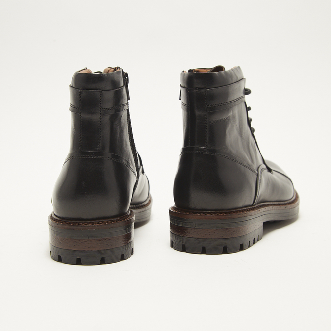 bottines en vrai cuir homme bata, Noir, 894-6276 - 17