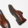 chaussures basses brogue en cuir bata, Brun, 824-3210 - 17