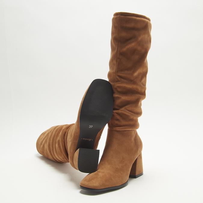 bottes en-dessous du genou à talons larges bata, Brun, 799-3421 - 19