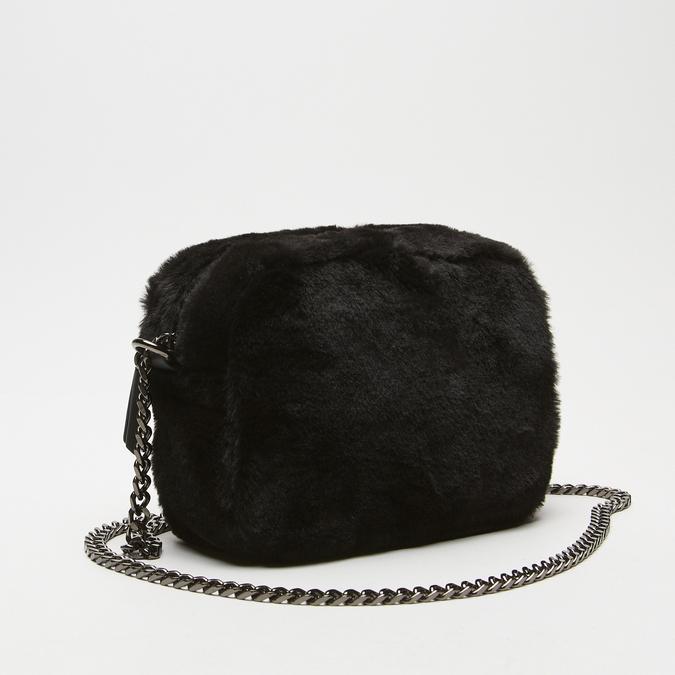 sac à bandoulière avec fourrure bata, Noir, 969-6193 - 26