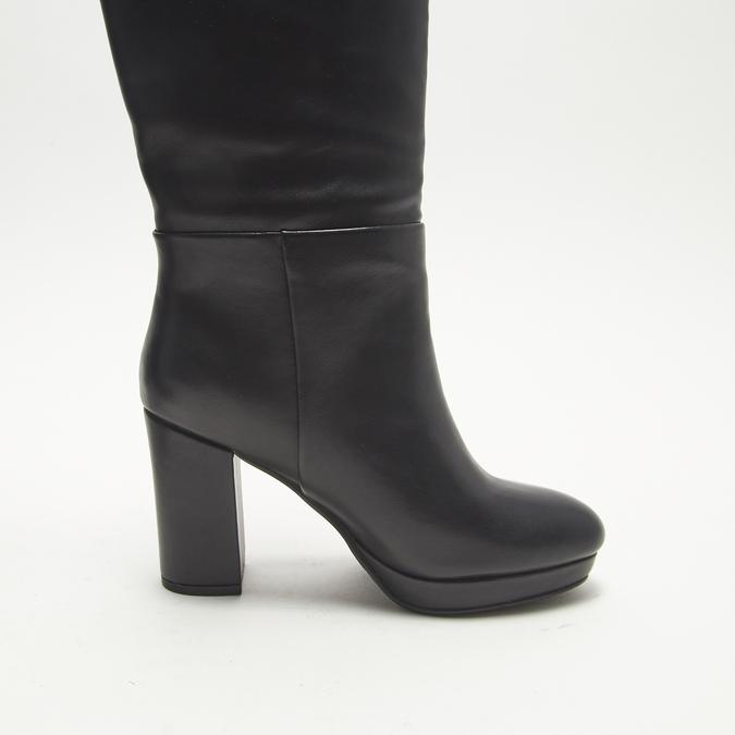 bottes en-dessous du genou à talons larges bata, Noir, 791-6257 - 15