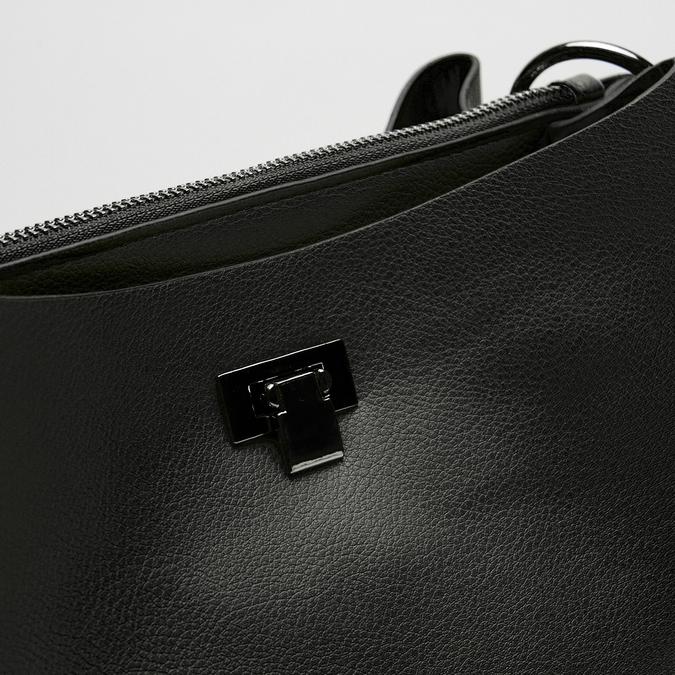 sac à main hobo pour femme à anse chaînette bata, Noir, 961-6203 - 16