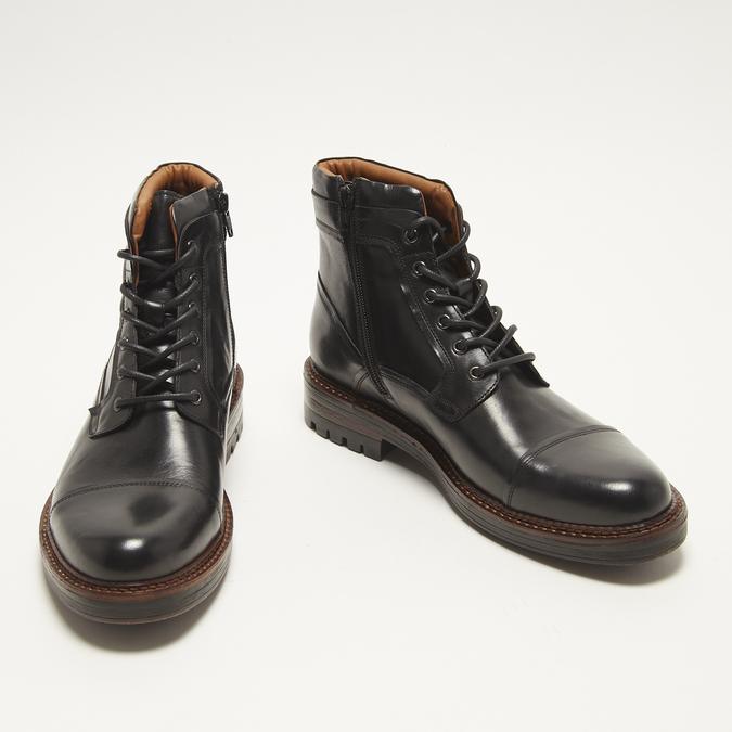 bottines en vrai cuir homme bata, Noir, 894-6276 - 26
