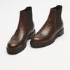 bottines en cuir à surpiqûre visible bata, Brun, 594-4832 - 26