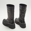 combat boots en cuir à semelles track bata, Noir, 594-6836 - 17