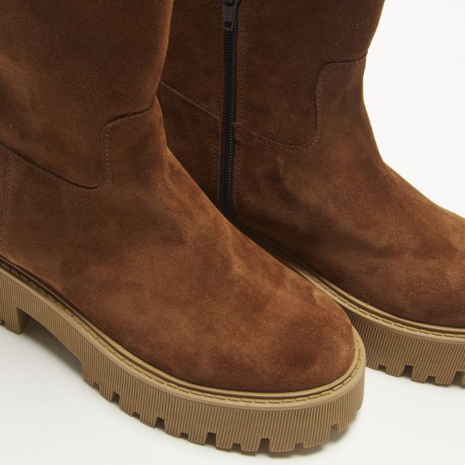combat boots en suède à semelles track bata, Brun, 593-3836 - 15