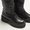 combat boots en cuir à semelles track bata, Noir, 594-6836 - 15