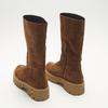 combat boots en suède à semelles track bata, Brun, 593-3836 - 17